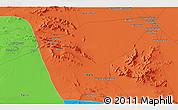 Political 3D Map of Sīrjān