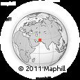 Outline Map of Zāhedān, rectangular outline