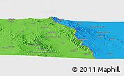 Political Panoramic Map of Zāhedān