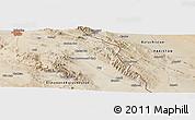 Satellite Panoramic Map of Zāhedān