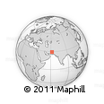 """Outline Map of the Area around 29° 16' 6"""" N, 62° 7' 30"""" E, rectangular outline"""