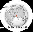 Outline Map of Drāman Nāri, rectangular outline