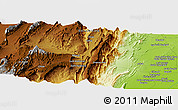 Physical Panoramic Map of Regwāsh