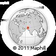 Outline Map of Goth Khān Muhammad, rectangular outline