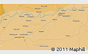 Political 3D Map of Bahāwalpur