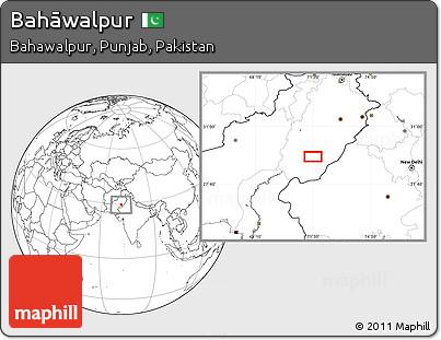 Blank Location Map of Bahāwalpur