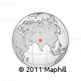 """Outline Map of the Area around 29° 16' 6"""" N, 76° 34' 29"""" E, rectangular outline"""
