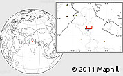 """Blank Location Map of the area around 29°16'6""""N,77°25'30""""E"""