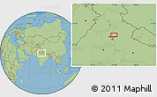 "Savanna Style Location Map of the area around 29°16'6""N,77°25'30""E"