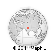 """Outline Map of the Area around 29° 16' 6"""" N, 77° 25' 30"""" E, rectangular outline"""