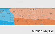 Political Panoramic Map of Muzaffarnagar