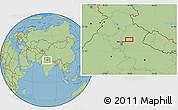 "Savanna Style Location Map of the area around 29°16'6""N,78°16'30""E"