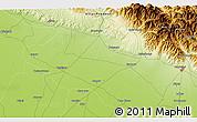 Physical 3D Map of Dilārī