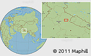 "Savanna Style Location Map of the area around 29°16'6""N,79°7'30""E"