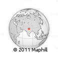 """Outline Map of the Area around 29° 16' 6"""" N, 79° 7' 30"""" E, rectangular outline"""