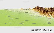 Physical Panoramic Map of Dilārī