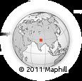 Outline Map of Far-Western Development Region, rectangular outline