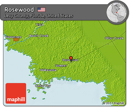 Free Physical 3d Map Of Rosewood