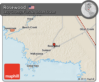 Free Shaded Relief 3d Map Of Rosewood