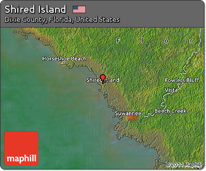 Free Satellite Map of Shired Island