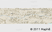Shaded Relief Panoramic Map of Xungru