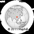 Outline Map of Mount Gongga, rectangular outline