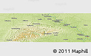 """Physical Panoramic Map of the area around 29°44'59""""N,104°37'30""""E"""