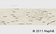 Shaded Relief Panoramic Map of Longgang