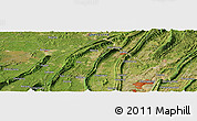 Satellite Panoramic Map of Geleshan