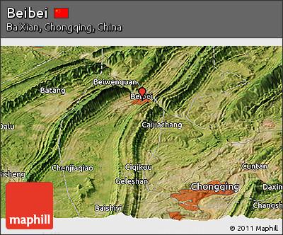 Satellite Panoramic Map of Beibei
