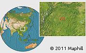 Satellite Location Map of Anzhen