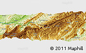 """Physical Panoramic Map of the area around 29°44'59""""N,108°1'30""""E"""