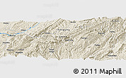 """Shaded Relief Panoramic Map of the area around 29°44'59""""N,108°1'30""""E"""