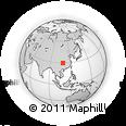 Outline Map of Wendou, rectangular outline