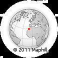 Outline Map of Tiznit, rectangular outline