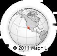 Outline Map of Rancho Grande, Gonzaga Bay, rectangular outline