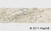 Physical Panoramic Map Of Zhuji - Zhuji map