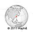 Outline Map of Ningbo, rectangular outline