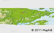 Physical Panoramic Map of Ningbo