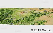 Satellite Panoramic Map of Ningbo