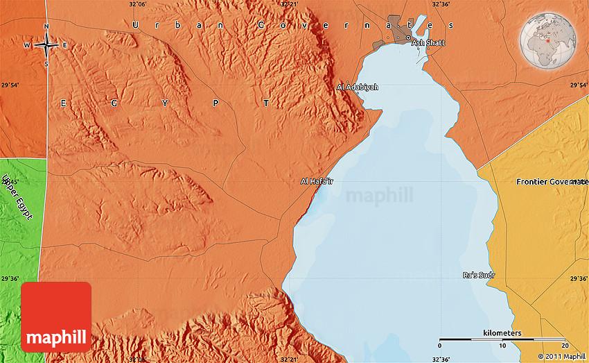 Political Map of Al Adab yah