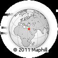 Outline Map of Sinai Peninsula, rectangular outline