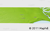 """Physical Panoramic Map of the area around 29°44'59""""N,47°40'29""""E"""