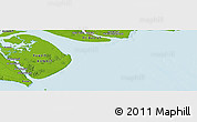 """Physical Panoramic Map of the area around 29°44'59""""N,48°31'29""""E"""
