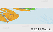 """Political Panoramic Map of the area around 29°44'59""""N,48°31'29""""E"""