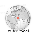 """Outline Map of the Area around 29° 44' 59"""" N, 49° 22' 30"""" E, rectangular outline"""