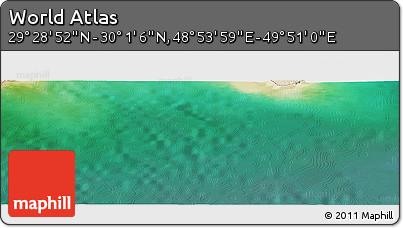 "Satellite Panoramic Map of the Area around 29°44'59""N,49°22'30""E"