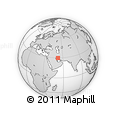 """Outline Map of the Area around 29° 44' 59"""" N, 51° 55' 29"""" E, rectangular outline"""