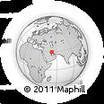 Outline Map of Qalāt, rectangular outline