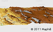 """Physical Panoramic Map of the area around 29°44'59""""N,51°55'29""""E"""